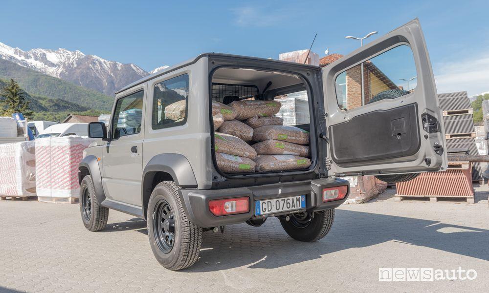 Spazio di carico cassone Suzuki Jimny PRO