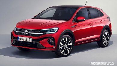 Vista di profilo nuova Volkswagen Taigo R-Line
