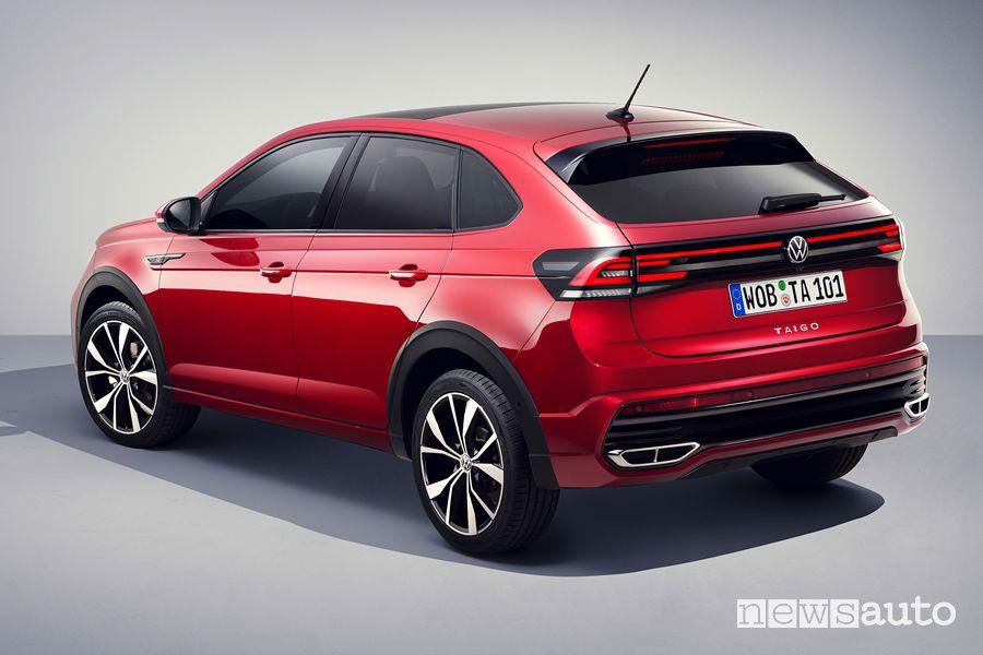 Vista posteriore nuova Volkswagen Taigo R-Line