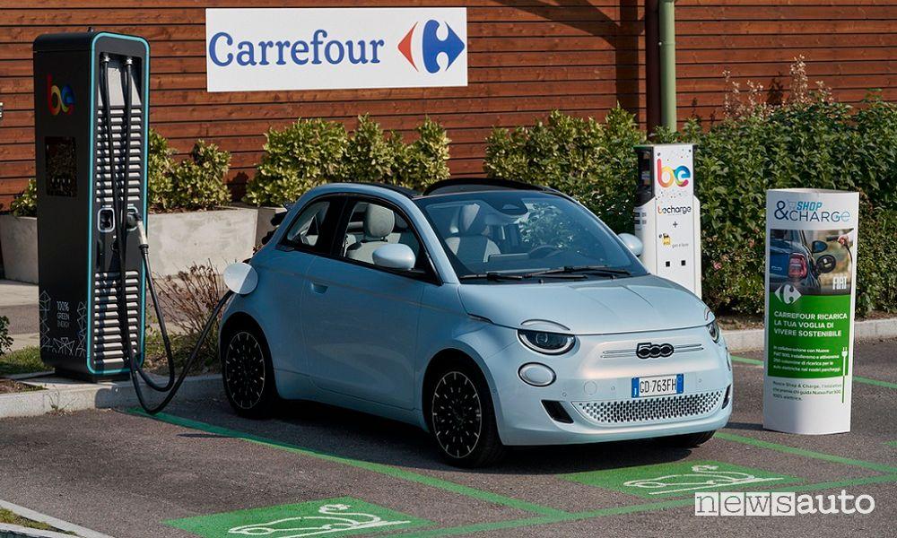 Fiat 500e auto elettrica più venduta in Italia a luglio 2021