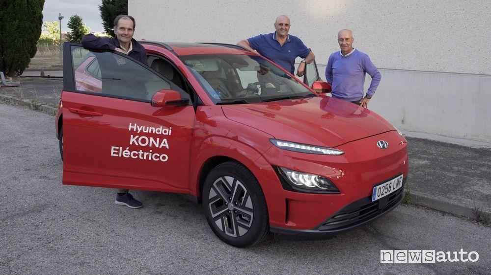 Autonomia Hyundai Kona elettrica nel traffico di Madrid