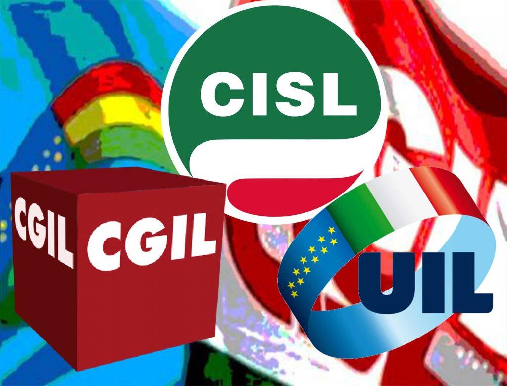 Sindacati di Cgil, Cisl e Uil