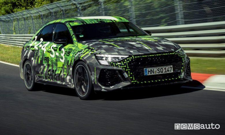 Nuova Audi RS 3, tempo record al Nürburgring [video]