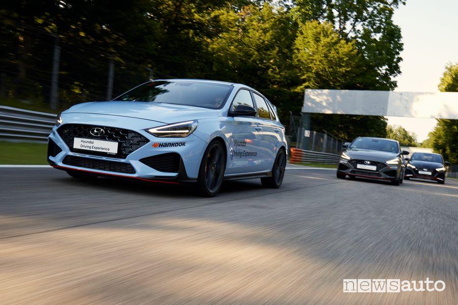 Hyundai i30 N Performance in pista a Monza