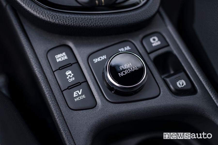 Manopola modalità di guida abitacolo nuova Toyota Yaris Cross Adventure