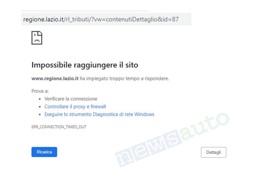 Bollo auto non funzionano le pagine informative della Regione Lazio sotto attacco hacker che hanno messo KO i server