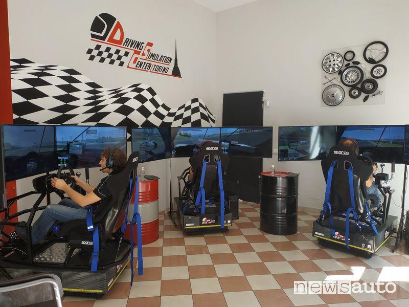 Simulatore di guida a Vallelunga inaugurazione Driving Simulation Center