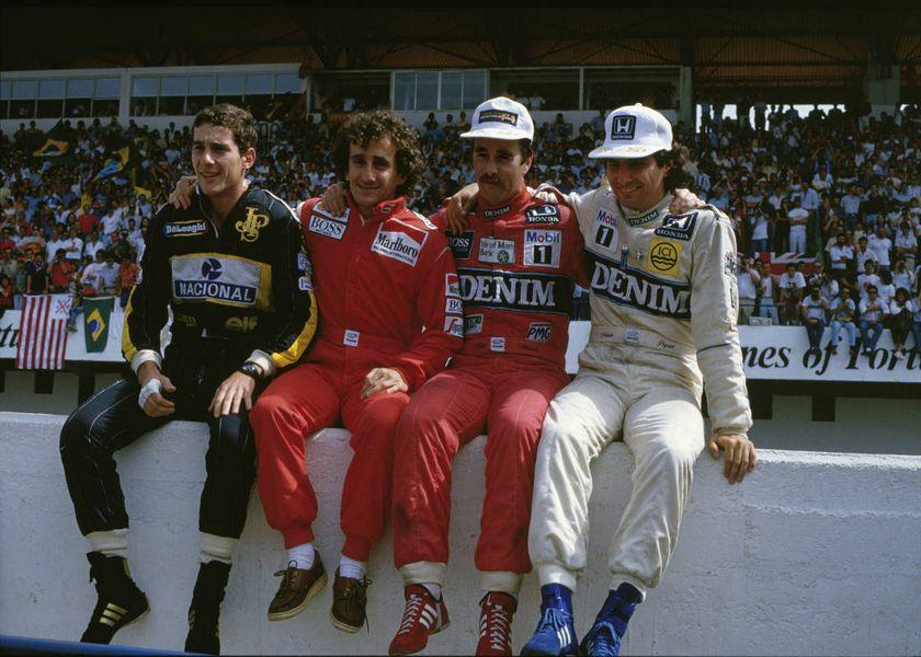 F1 Heros Gp Portogallo 1896 Senna, Prost, Mansell e Piquet