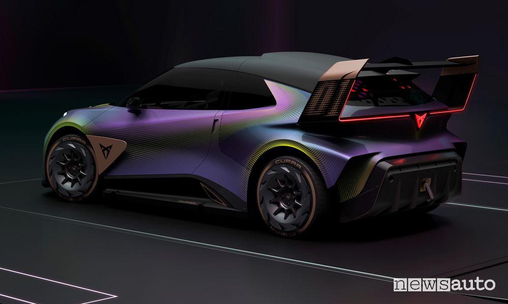 Vista posteriore Cupra UrbanRebel Concept