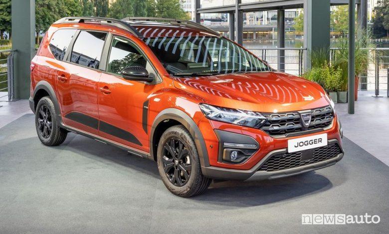 Nuovo Dacia Jogger 7 posti benzina e GPL, caratteristiche