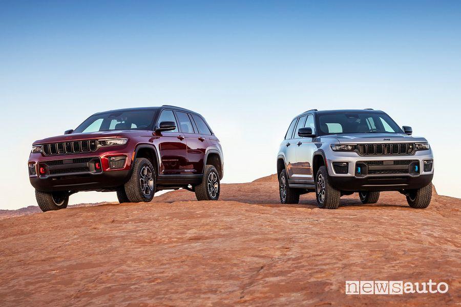 Nuova Jeep Grand Cherokee Trailhawk e Trailhawk 4xe
