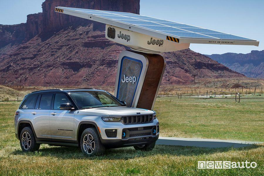 Nuova Jeep Grand Cherokee Trailhawk 4xe in ricarica