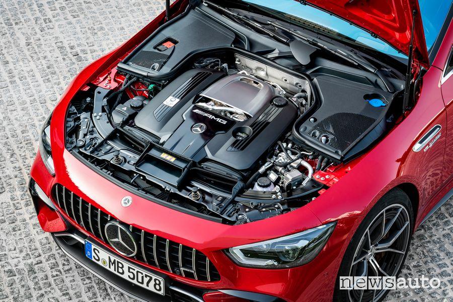 Vano motore V8 Mercedes-AMG GT 63 S E Performance