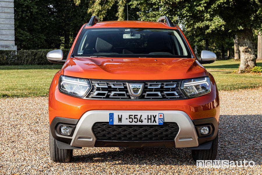 Vista anteriore nuovo Dacia Duster 4x2 Arizona Orange
