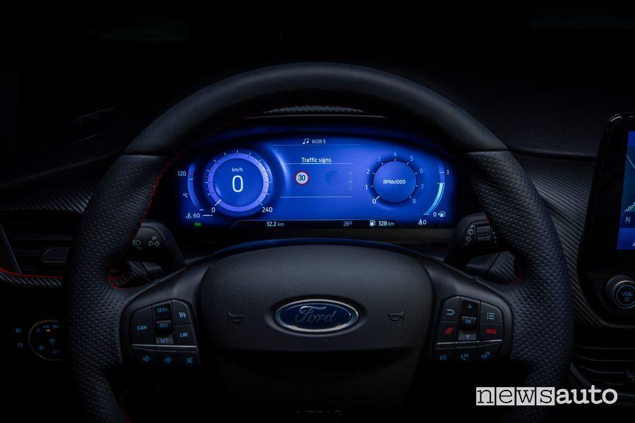 """Quadro strumenti digitale 12"""" abitacolo nuova Ford Fiesta ST"""
