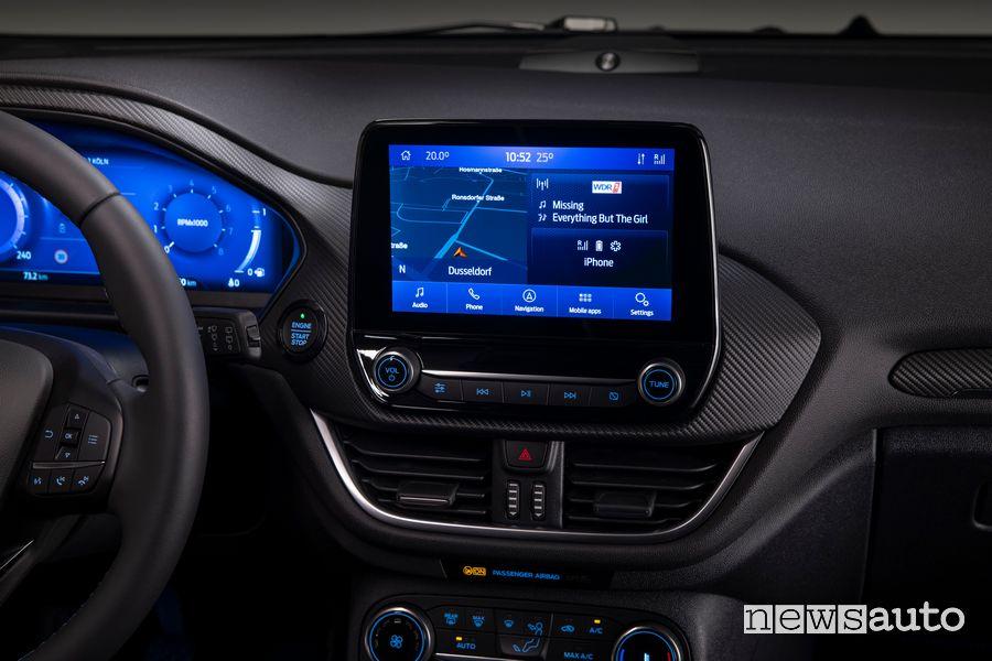 """Touchscreen 8"""" SYNC 3 abitacolo nuova Ford Fiesta"""