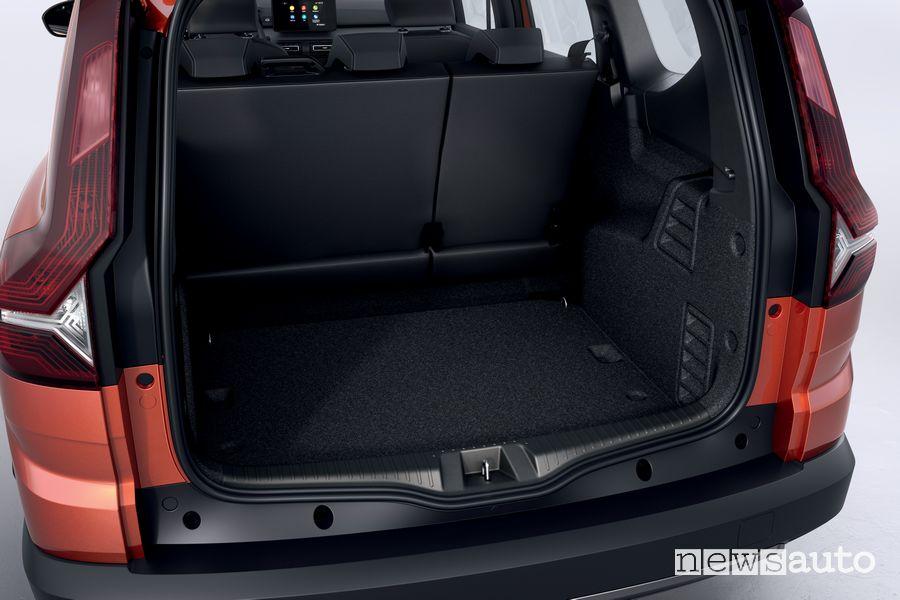 Bagagliaio nuovo Dacia Jogger 5 posti
