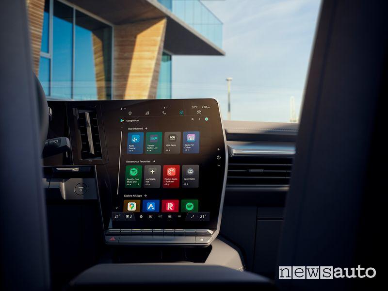 "Display multimediale da 12"" abitacolo nuova Renault Mégane E-TECH Electric"