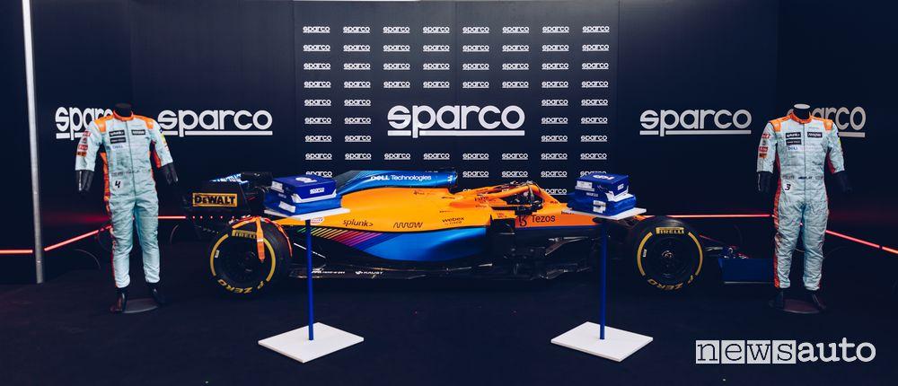 Tute abbagliamento F1 Sparco per la McLaren