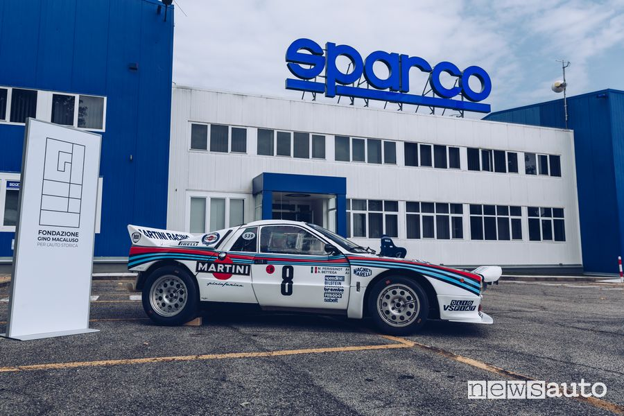 Lancia Rally 037 Martini at the Sparco di Volpiano headquarters