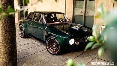Vista di profilo Totem GT Super restomod Alfa Romeo Giulia