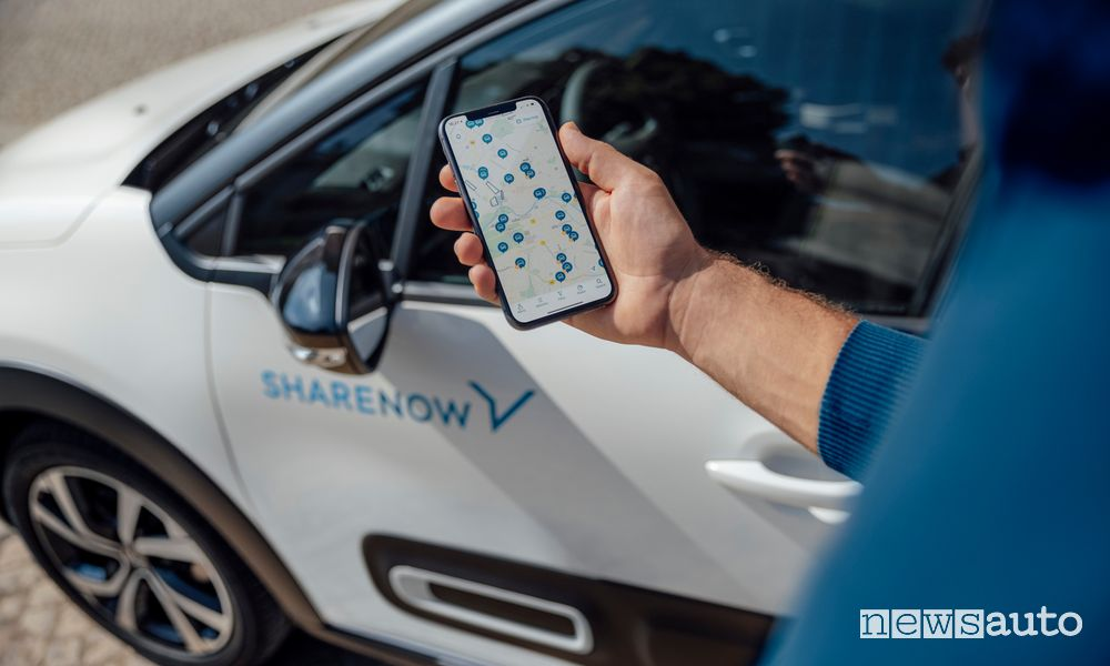 car sharing App Share Now
