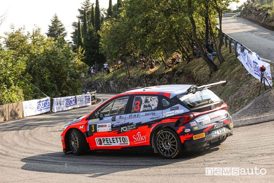 Crugnola 2° al 44°Rally 1000 Miglia con la nuova Hyundai i20 N Rally2