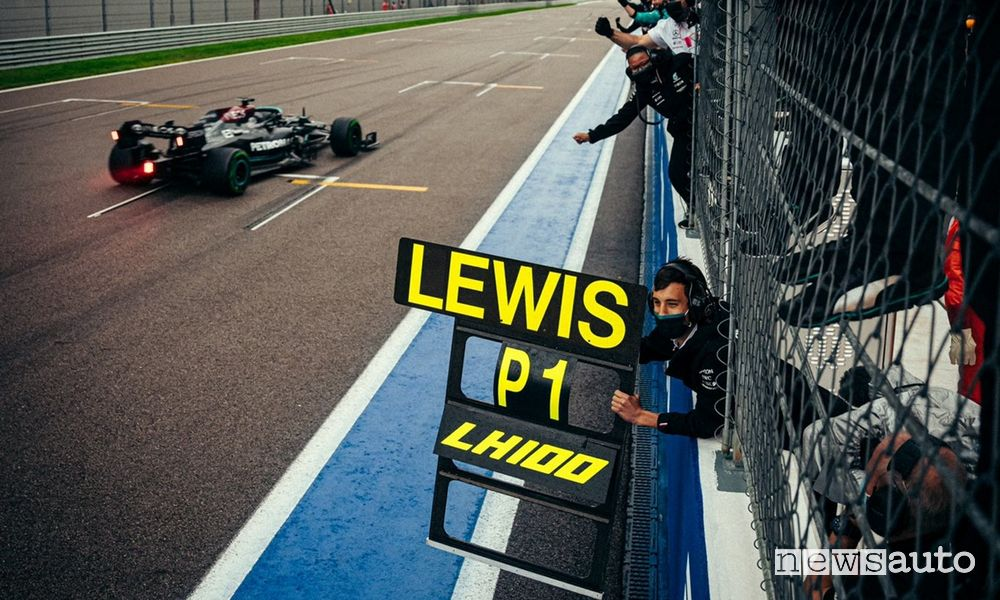 Lewis Hamilton 100 vittorie in F1