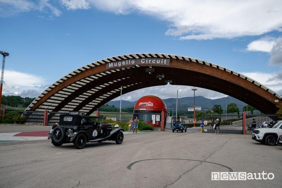 Entrata circuito Mugello auto storiche Gp Nuvolari 2021
