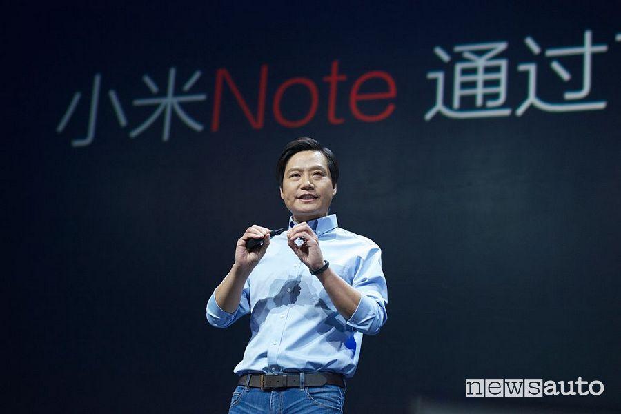 Lei Jun Xiaomi nuova divisione auto elettriche