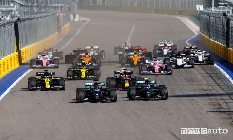 Orari Gp Russia F1 2021, diretta SKY e differita TV8
