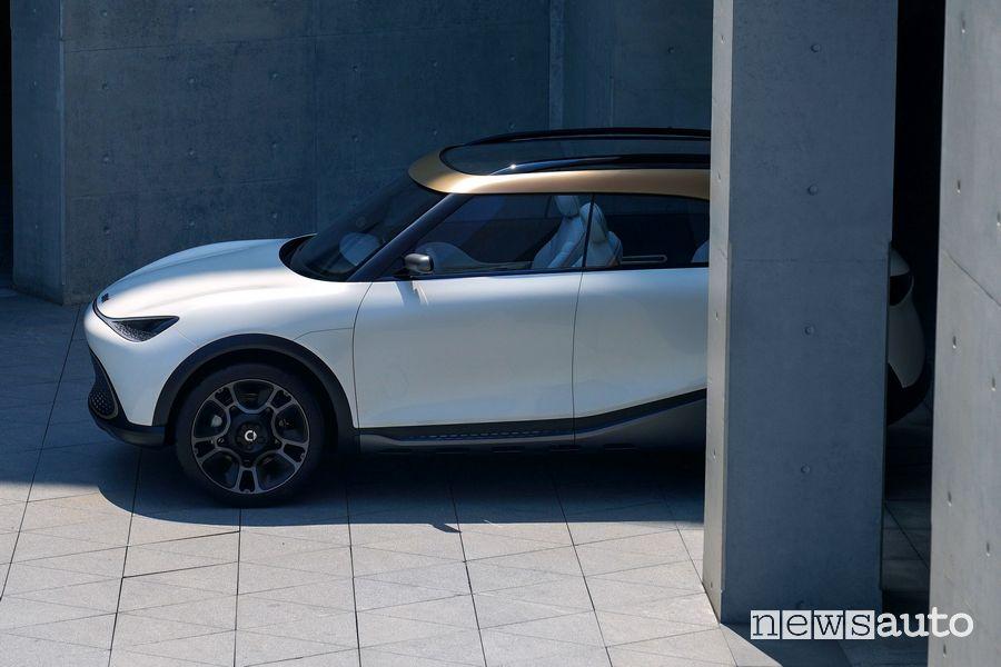 Vista laterale smart Concept SUV elettrico