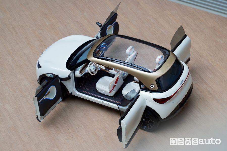 Portiere aperte smart Concept SUV elettrico