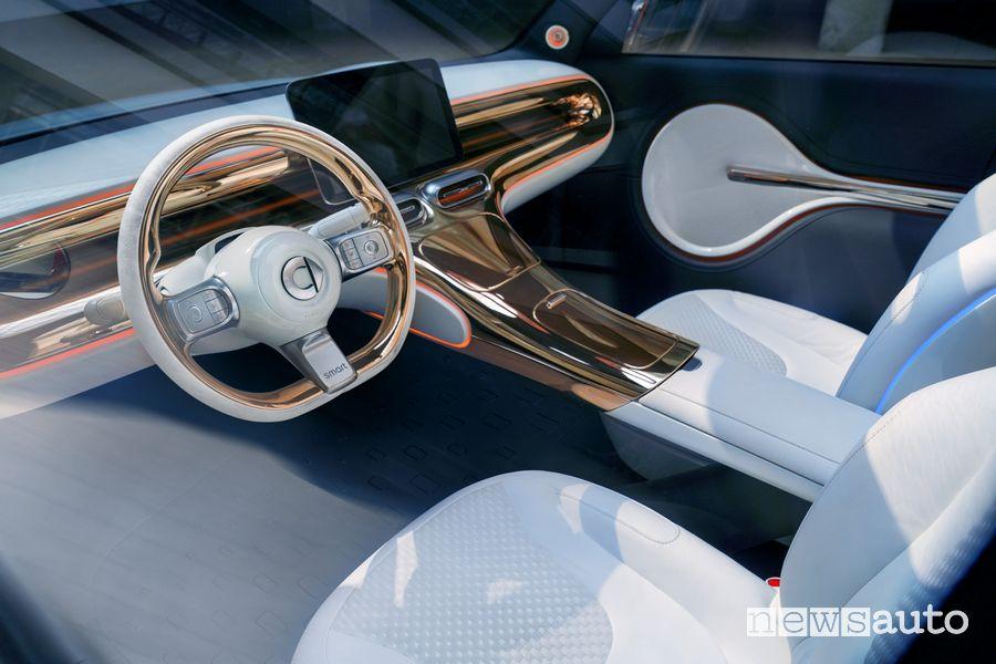 Volante abitacolo smart Concept SUV elettrico
