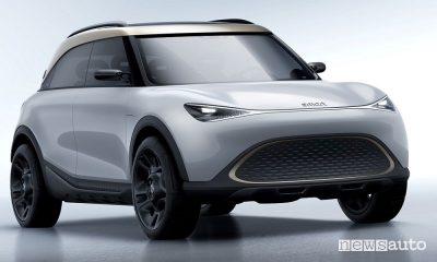 Vista di profilo smart Concept SUV elettrico