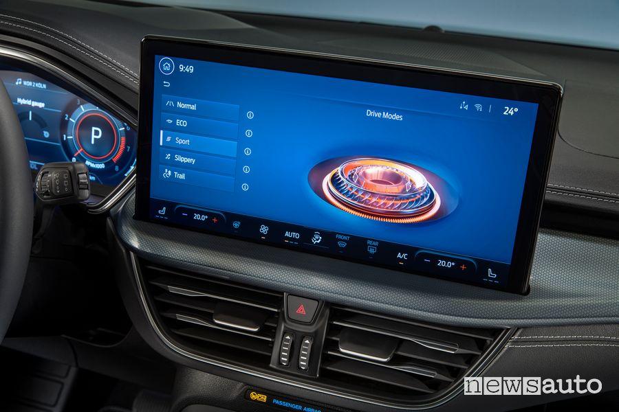 "Touchscreen 13,2"" SYNC4 abitacolo nuova Ford Focus Active"