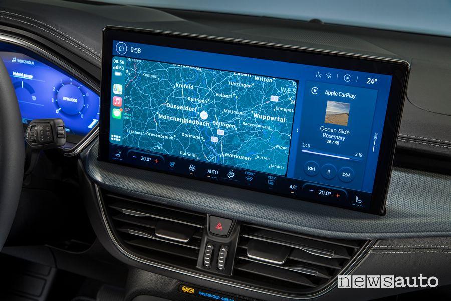 "Apple CarPlay touchscreen 13,2"" SYNC4 abitacolo nuova Ford Focus Active"