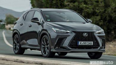 Nuovo Lexus NX ibrido, plug-in hybrid, caratteristiche e prezzi
