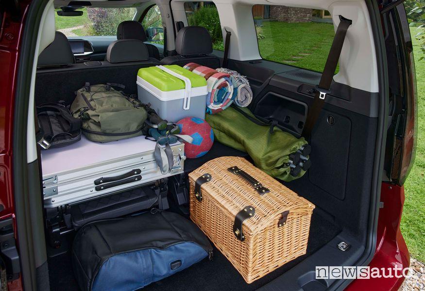 Bagagliaio spazio di carico nuovo Ford Tourneo Connect